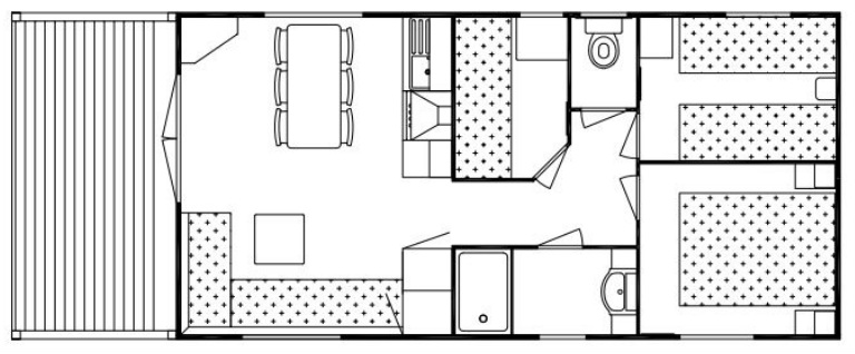 Le Chic Static caravan Layout